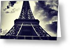 #paris Greeting Card by Ritchie Garrod
