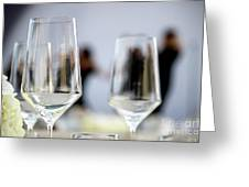 Party Setting With Bokeh Background Greeting Card