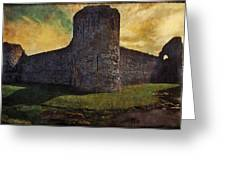 Pevensey Castle Ruins Greeting Card