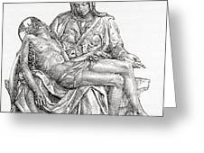 Pieta Greeting Card
