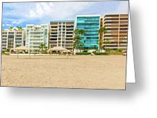 Playa De Chipipe In Salinas, Ecuador Greeting Card