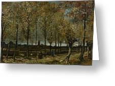 Poplars Near Nuenen Greeting Card