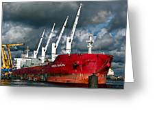 Port Of Amsterdam Greeting Card