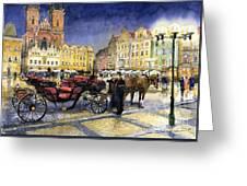 Prague Old Town Square Greeting Card