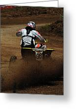 Quad Cross Racer Greeting Card