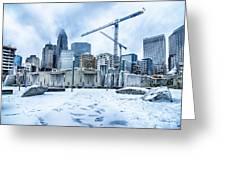 Rare Winter Weather In Charlotte North Carolina Greeting Card