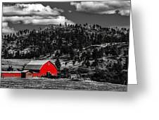 Red Barn In Wyoming Greeting Card
