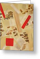 3 Red Objects Greeting Card