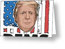 Reelect Trump For President Keep America Great Light Greeting Card