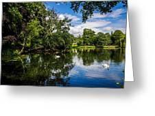 Roath Park Lake Greeting Card