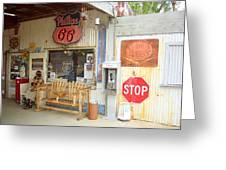 Route 66 - Hackberry General Store Greeting Card