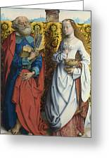 Saints Peter And Dorothy Greeting Card