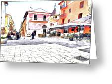 San Felice Circeo Square Greeting Card