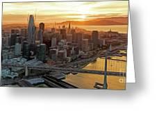 San Francisco Financial District Skyline Greeting Card