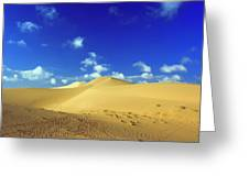 Sandy Desert Greeting Card