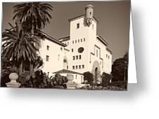 Santa Barbara County Courthouse Greeting Card