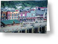 Scenery Around Alaskan Town Of Ketchikan Greeting Card