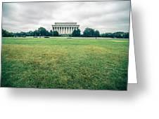 Scenes Around Lincoln Memorial Washington Dc Greeting Card