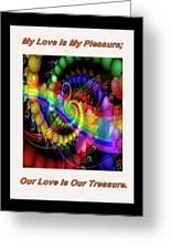 Serenading Hearts Greeting Card