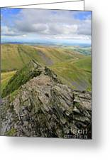 Sharpe Edge On Blencathra Fell, Lake District National Park Greeting Card