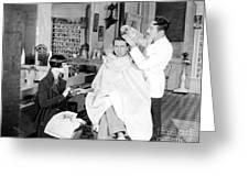 Silent Still: Barber Shop Greeting Card