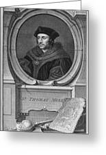 Sir Thomas More, English Statesman Greeting Card