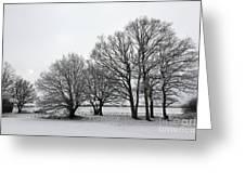 Snow On Epsom Downs Surrey Uk Greeting Card