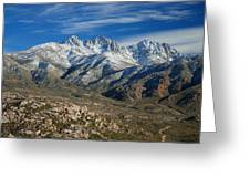 Snowy Four Peaks Arizona Greeting Card