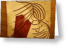 Solemn - Tile Greeting Card