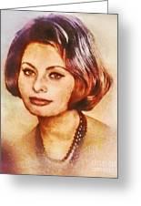 Sophia Loren, Vintage Hollywood Actress Greeting Card