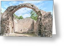 Spanish Chapel At Oxtankah Greeting Card