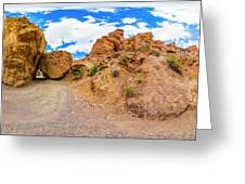 Spherical Panorama From A Canyon Charyn Greeting Card