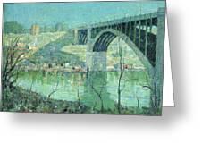 Spring Night Harlem River Greeting Card