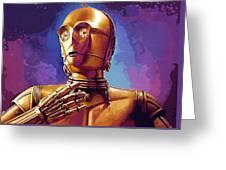 Star Wars Episode 2 Art Greeting Card