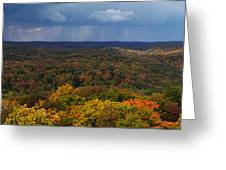 Storm Clouds Over Fall Nature Scenery Greeting Card