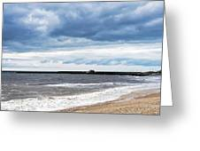 Stormy Seascape - Lyme Regis Greeting Card
