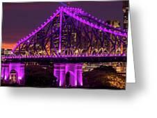 Story Bridge In Brisbane, Queensland Greeting Card