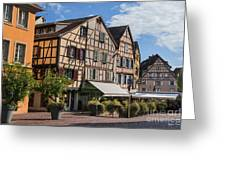 Streets Of Colmar Greeting Card