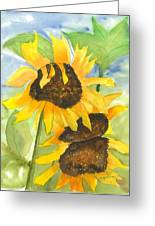 3 Sunflowers Greeting Card