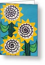 3 Sunflowers Greeting Card
