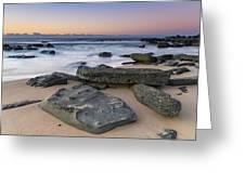 Sunrise And The Sea Greeting Card