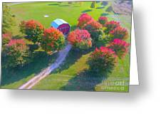 Sunset Hill Farms Indiana  Greeting Card