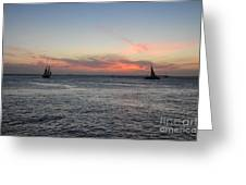 Sunset Key West  Greeting Card
