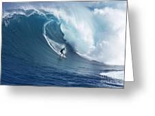 Surfing The Infamous Jaws Greeting Card
