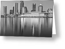 Tampa Bay Black And White Greeting Card