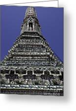 Temple Detail In Bangkok Thialand Greeting Card