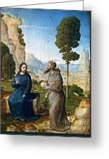 Temptation Of Christ Greeting Card