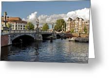 The Bridges Of Amsterdam Greeting Card