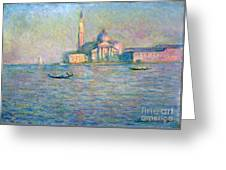 The Church Of San Giorgio Maggiore - Venice Greeting Card