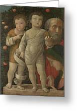 The Holy Family With Saint John Greeting Card